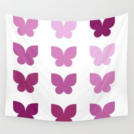 Butterflies in Purple Ombre Wall Tapestry