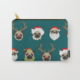 Christmas Pug Pattern Carry-All Pouch
