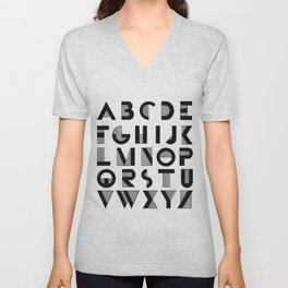 Deco Alphabet Unisex V-Neck