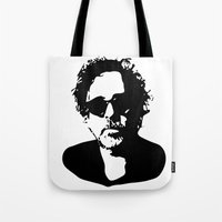tim shumate Tote Bags featuring Tim by b & c
