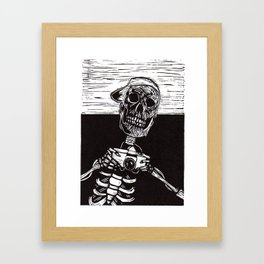 The Living Are Just The Dead On Holiday Framed Art Print