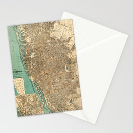 Map Of Liverpool 1900 Stationery Cards
