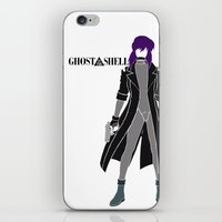 ghost in the shell iPhone & iPod Skins featuring Ghost in the Shell by Krbshadow