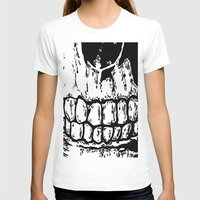 teeth T-shirts featuring Teeth by Mike Hague Prints