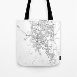 Minimal City Maps - Map Of Colorado Springs, Colorado, United States Tote Bag