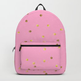 Gold Confetti on Hot Pink Backpack