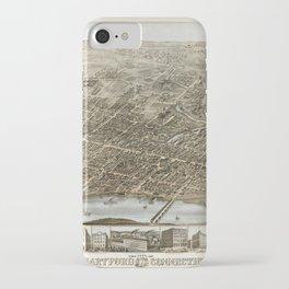Hartford Panorama 1877 iPhone Case