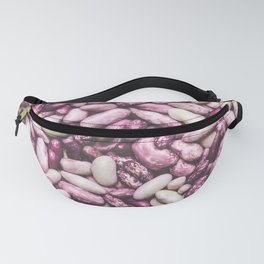 Shiny white and purple cool beans Fanny Pack