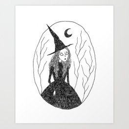Forest Witch Art Print