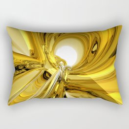 Abstract Gold Rings Rectangular Pillow