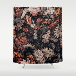 Autumn to winter dry leaves Shower Curtain