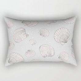 Elegant Sea Shell Art Rectangular Pillow