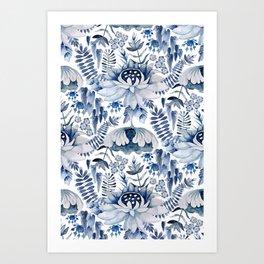 Exotic Indigo Art Print