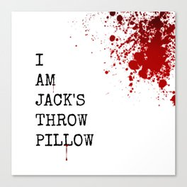 Jack's Throw Pillow Blood Canvas Print