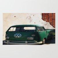 vw Area & Throw Rugs featuring VW GRUNGE by Joedunnz