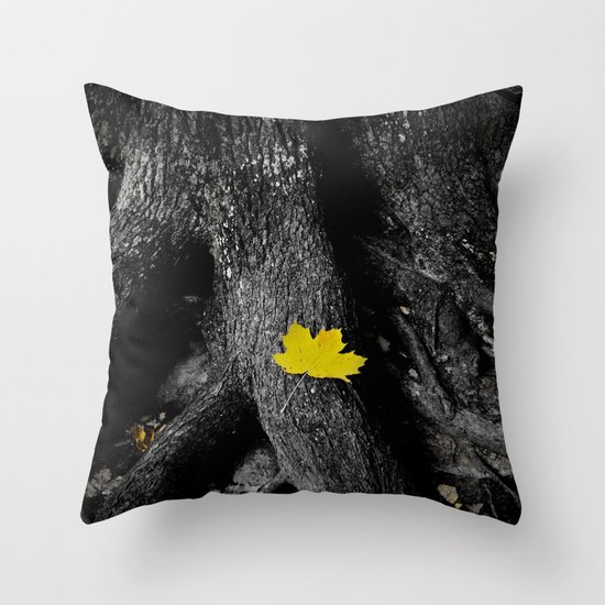 A spark of color Throw Pillow