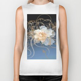 Beautiful Abstract Floral Biker Tank