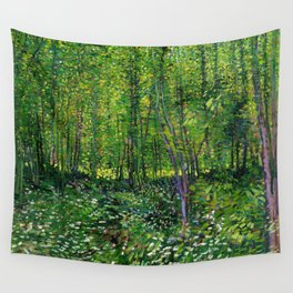 Vincent Van Gogh Trees and Undergrowth 1887 Wall Tapestry
