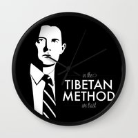 dale cooper Wall Clocks featuring Cooper by Lindsay Happ