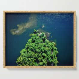 Archipelago Island - Aerial Photography Serving Tray