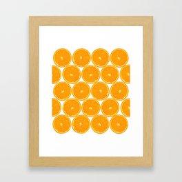 Orange Fruit Pattern Framed Art Print
