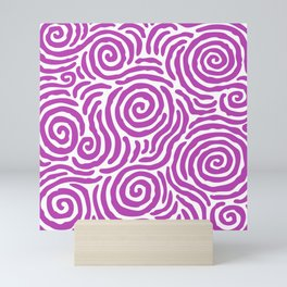 Ripple Effect Pattern Magenta Mini Art Print