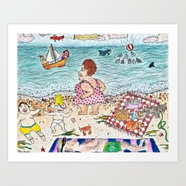Welcome to Cape Cod Art Print