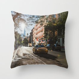 New York One Morning Throw Pillow