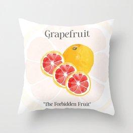 The Glorious Greatness of Grapefruit Throw Pillow