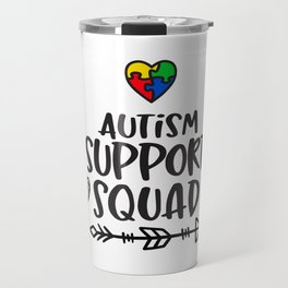 Autism, autism awareness, rainbow puzzle Travel Mug