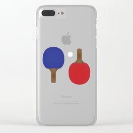 Ping Pong Rackets Clear iPhone Case