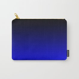 Black Blue Neon Nights Ombre Carry-All Pouch
