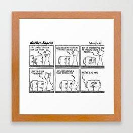 Kitchen Kapers Framed Art Print