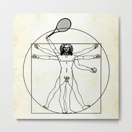 Vitruvian Tennis Player - perfect as a gift for tennis fans. Metal Print