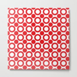 Dot 2 Red Metal Print