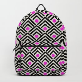 Black & hot pink chevrons & spots Backpack
