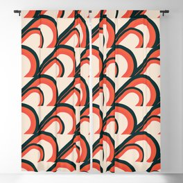Retro Pattern Blackout Curtain