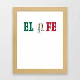 El Jefe Mexican Pride Mexico Flag Men product Framed Art Print
