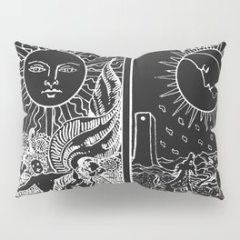 The Sun and Moon Tarot Cards | Obsidian & Pearl Pillow Sham