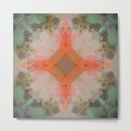 Antique Pastel Abstract Pattern Design Metal Print