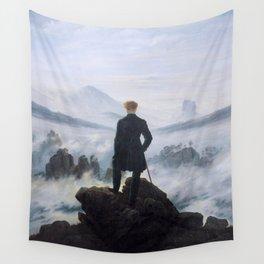 Caspar David Friedrich, Wanderer above the sea of fog, 1818 Wall Tapestry