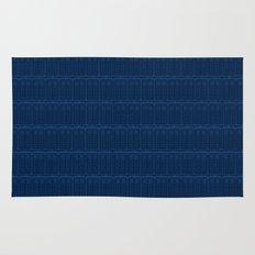 TARDIS Blueprint Pattern - Doctor Who Rug