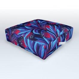 Pohutukawa - Red / Blue Outdoor Floor Cushion
