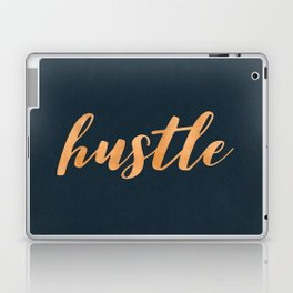 Hustle Text Copper Bronze Gold and Navy Laptop & iPad Skin