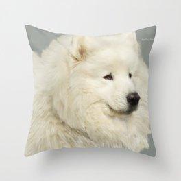 """Sacha; the Samoyed """"Lion King"""" Throw Pillow"""