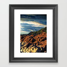 clouds over saunton Framed Art Print