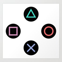 Play with Playstation Controller Buttons Art Print