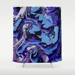 Electrifying Lavender Shower Curtain