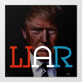 """WAR/LIAR"" Political word shift Ambigram Canvas Print"
