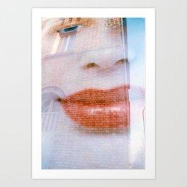 MOOD FACE SUITE Art Print